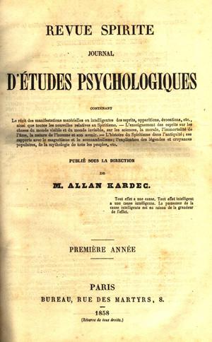 Revue Spirite 1858